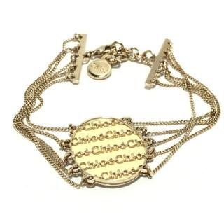 クロエ(Chloe)のクロエ - 金属素材 ゴールド×アイボリー(ブレスレット/バングル)