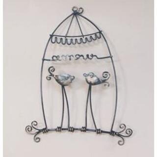 ウォールアクセント ワイヤーアート 壁掛け 壁飾り 鳥モチーフ(置物)
