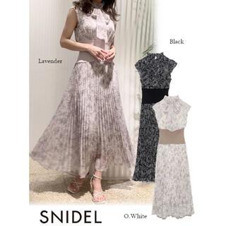 snidel - 【即購入可】新品♡ウエストリブプリーツワンピース