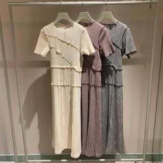 snidel - 【即購入可】新品♡メローデザインワンピース