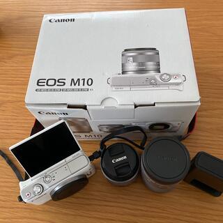 キヤノン(Canon)のCanon EOS M10 ホワイト(ミラーレス一眼)