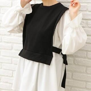 イング(INGNI)の新品 INGNI スウェットベスト レイヤーシャツ クロ サイズM(シャツ/ブラウス(長袖/七分))
