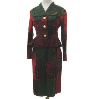 アザー(other)のタケオニシダ スーツ ジャケット スカート セットアップ 9 約M~Lサイズ 赤(スーツ)