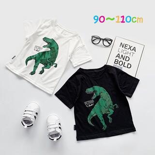 韓国 子供服 半袖 Tシャツ 90 100 110 男の子 恐竜(Tシャツ/カットソー)