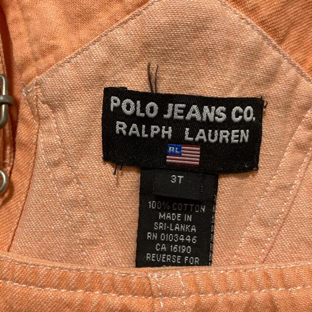 POLO RALPH LAUREN(ポロラルフローレン)のラルフローレン オーバーオール 100cm キッズ/ベビー/マタニティのキッズ服女の子用(90cm~)(ワンピース)の商品写真