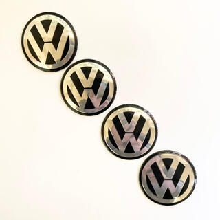 フォルクスワーゲン(Volkswagen)のvorkswargen フォルクスワーゲン ホイールセンターステッカー 4pcs(車外アクセサリ)