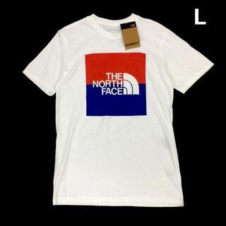 THE NORTH FACE - ノースフェイス 半袖 Tシャツ US限定 男女兼用(L)白 180902-m13