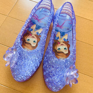 Disney - ソフィア ビニールサンダル ガラスの靴 プール 18cm