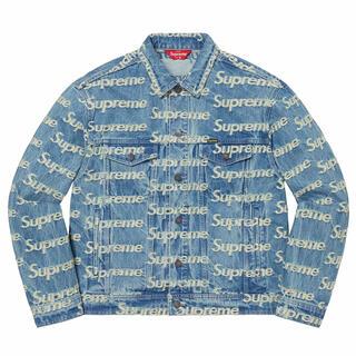 シュプリーム(Supreme)のFrayed Logos Denim Trucker Jacket XL(Gジャン/デニムジャケット)