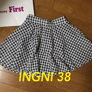 イング(INGNI)のwallamanda サイズ38 チェックスカート(ひざ丈スカート)