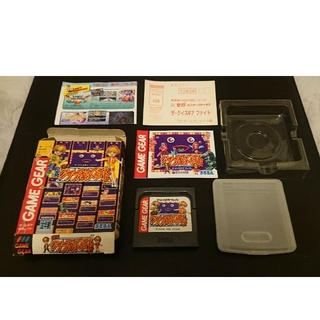 セガ(SEGA)のゲームギア ザ・クイズギア ファイト 箱説付(携帯用ゲームソフト)