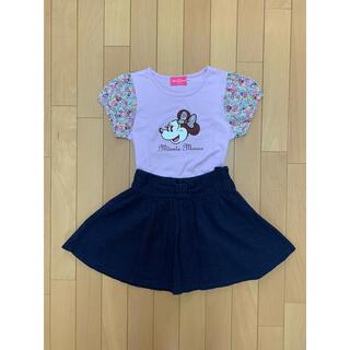 Disney - [ディズニー]美品★size120★ミニーちゃん花柄Tシャツ