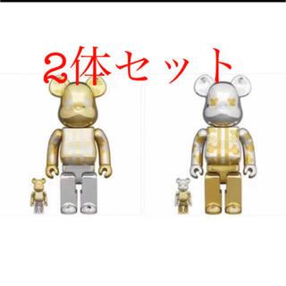メディコムトイ(MEDICOM TOY)の【新品】BE@RBRICK はっぴ東京 銀メッキ 100% & 400(その他)