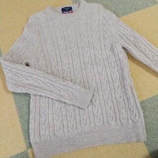 バックナンバー(BACK NUMBER)のBACK NUMBER バックナンバー セーター 白 ホワイト グレー メンズ(ニット/セーター)