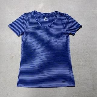 ナイキ(NIKE)の 【NIKE】 レディース  ボーダーTシャツ【ネイビー】(Tシャツ(半袖/袖なし))