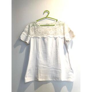 H&M レースTシャツ(Tシャツ(半袖/袖なし))
