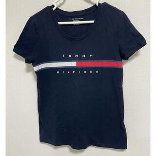 トミーヒルフィガー(TOMMY HILFIGER)のトミーの人気Tシャツ❣️レディースXS ネイビー(Tシャツ(半袖/袖なし))