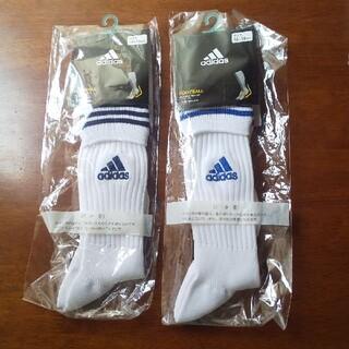 アディダス(adidas)のアディダスサッカーソックス16-18cm 2セット(ウェア)