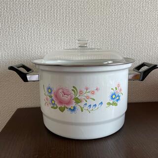 ホーロー鍋 蒸し器(鍋/フライパン)