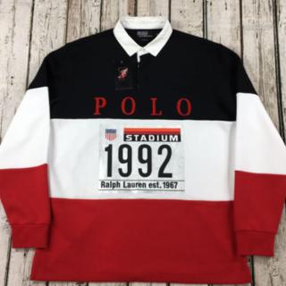 POLO RALPH LAUREN - POLO Ralph Lauren 1992 スタジアム M ラガーシャツ ポロ