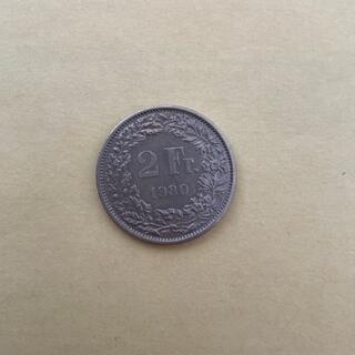 スイス  1980年 2フラン 硬貨(貨幣)