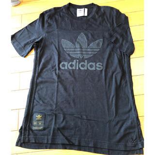 アディダス(adidas)の美品!着用2回!adidas Tシャツ  黒 L SUPERSTAR50周年記念(Tシャツ/カットソー(半袖/袖なし))