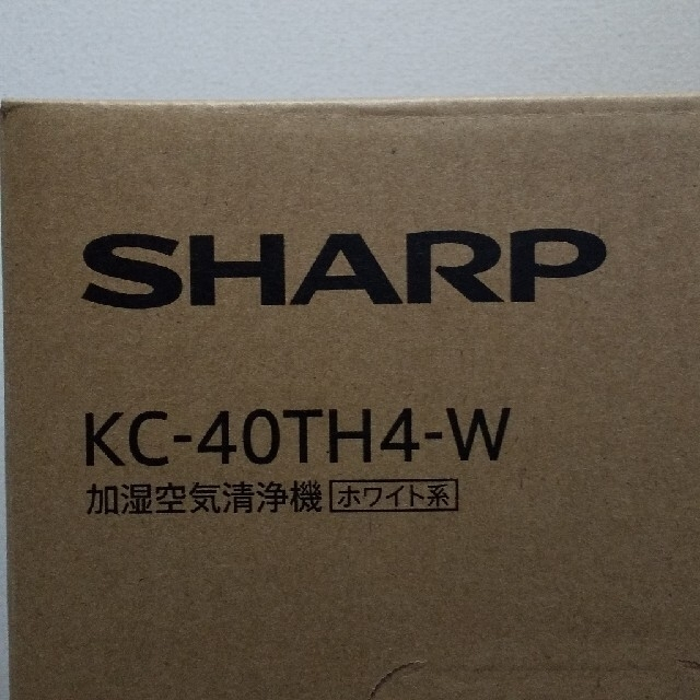 SHARP(シャープ)のSHARP(シャープ)加湿空気清浄機 ホワイト KC-40TH4-W スマホ/家電/カメラの生活家電(空気清浄器)の商品写真
