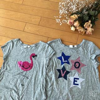GAP Kids - GAP KIDS 女の子 スパンコールTシャツ 2枚組