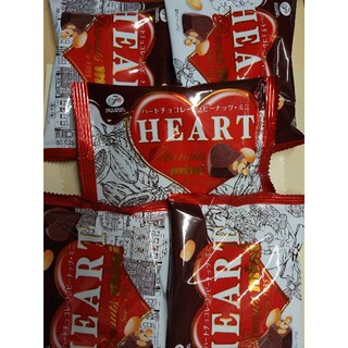 フジヤ(不二家)の不二家 ハートチョコレートピーナッツミニ 5袋(菓子/デザート)
