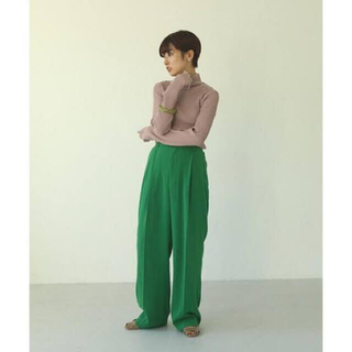TODAYFUL - Georgette Rough Trousers 36 グリーン