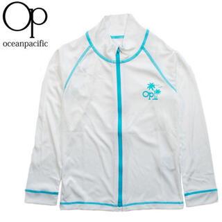 オーシャンパシフィック(OCEAN PACIFIC)の【新品】オーピー ラッシュガード キッズ ジップアップ 長袖 UVカット 120(水着)