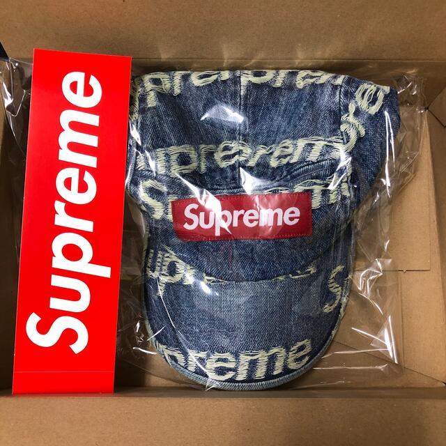 Supreme(シュプリーム)のSupreme Frayed Logos Denim Camp Cap メンズの帽子(キャップ)の商品写真
