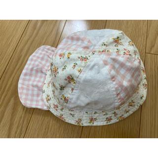 ニシマツヤ(西松屋)のベビー女の子用⭐︎帽子 花柄 チェック(帽子)