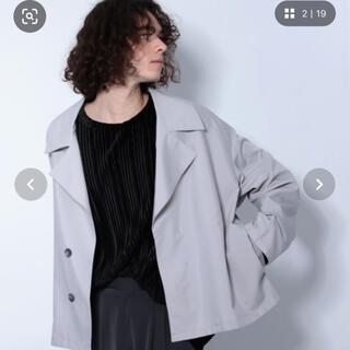 ハレ(HARE)のHARE ビックラベルシャツ 黒(テーラードジャケット)