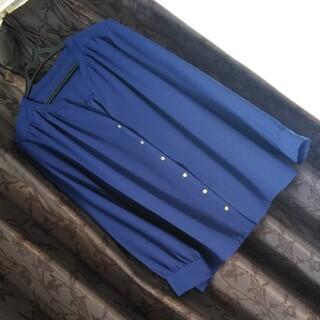 N.Natural beauty basic - N. ブラウス Mサイズ  青 とろみブラウス 匿名配送