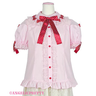 Angelic Pretty - スカラップチュールブラウス ピンク Angelic Pretty