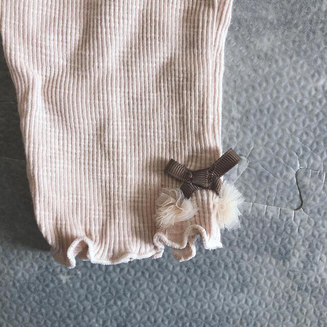 petit main(プティマイン)のpetit main ピンク レギンス キッズ/ベビー/マタニティのキッズ服女の子用(90cm~)(パンツ/スパッツ)の商品写真