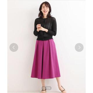 ニーム(NIMES)のNIMES ストレッチポンチ スカートライクパンツ(ひざ丈スカート)