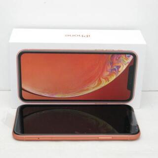 アイフォーン(iPhone)の【S】SIMフリー iPhoneXR 128GB コーラル(スマートフォン本体)