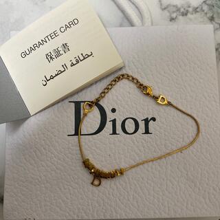 Christian Dior - 保証書付き! Christian Diorブレスレット