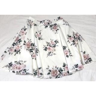 イング(INGNI)の花柄フレアスカート(ひざ丈スカート)