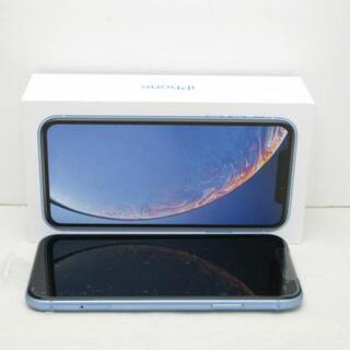 アイフォーン(iPhone)の【S】SIMフリー iPhoneXR 64GB ブルー(スマートフォン本体)
