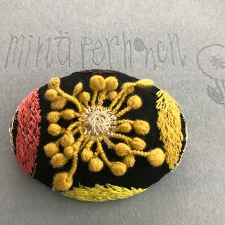 mina perhonen - ミナペルホネン ring flower ブローチヘアゴム ハンドメイド