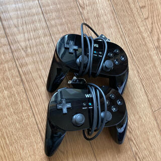 Wii - Wii クラシックコントローラー PRO 黒セット