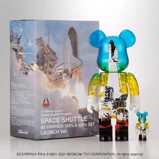 MEDICOM TOY - SPACE SHUTTLE BE@RBRICK LAUNCH