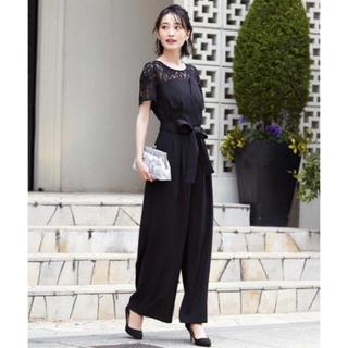 【Lサイズ】即納 ブラック オールインワン パンツドレス ブラック(オールインワン)