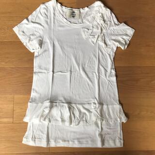 カオン(Kaon)のカオン リボンフリルカットソー Tシャツ(Tシャツ(半袖/袖なし))