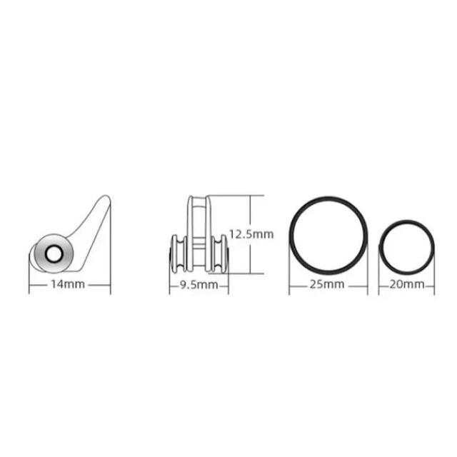 激安 フックキーパー 5個入 フックホルダー ルアーキーパー 釣り 収納 小物 スポーツ/アウトドアのフィッシング(ルアー用品)の商品写真