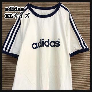 adidas - 【アディダス】半袖Tシャツ デカロゴ スリーストライプス ビッグロゴ XL78