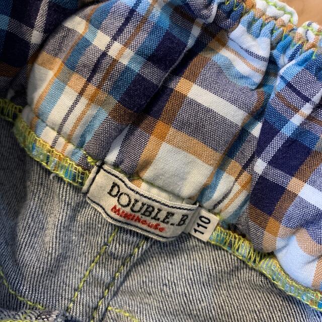 DOUBLE.B(ダブルビー)のダブルビー デニムハーフパンツ サイズ110 キッズ/ベビー/マタニティのキッズ服男の子用(90cm~)(パンツ/スパッツ)の商品写真